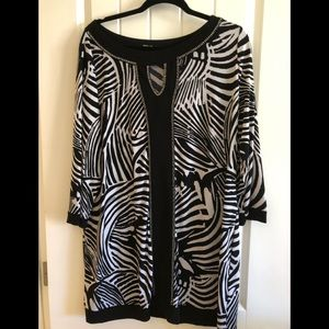 Black and white silver stud tunic